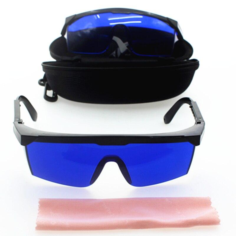 Lunettes de sécurité pour la beauté IPL, lunettes de recherche de golf, lunettes de recherche de balle de Golf, Protection des yeux, lentille bleue avec étui en tissu propre