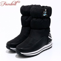 FACNDINLL Plus Size 34 40 New Winter Snow Boots Women Warm Cotton Down Shoes Waterproof Boots