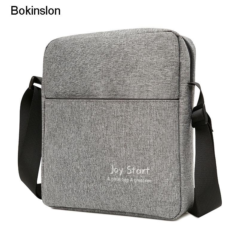 Bokinslon Men Shoulder Bag Casual Canvas Man Popular Shoulder Bag High Quality Practical Male Shoulder BagBokinslon Men Shoulder Bag Casual Canvas Man Popular Shoulder Bag High Quality Practical Male Shoulder Bag