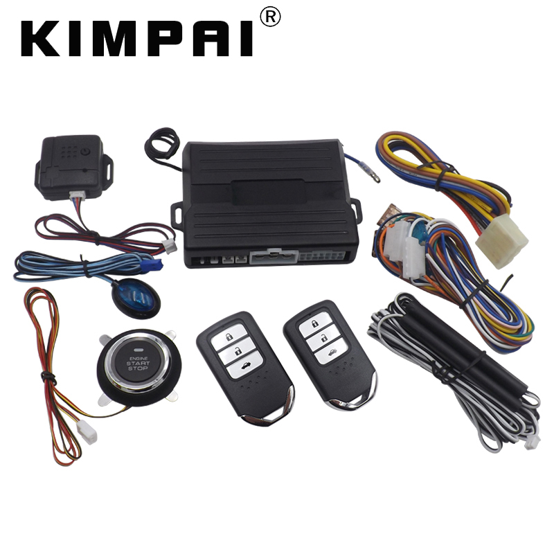 KIMPAI 9005 PKE Car Alarm System For Honda Remote Control Universal Central Door Locking PKE Passive Keyless Entry Alarm System цена и фото