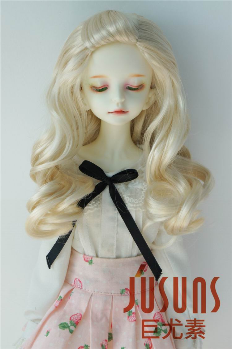 JD433 1/6 1/4 Pretty curly Synthetic mohair Doll wigs YOSD MSD fashion BJD doll hair size 6-7 inch 7-8 inch Doll Accessories sweetie chocolate mousse european retro outfit dress suit for bjd doll 1 6 yosd doll clothes lf9