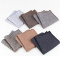 Alta Qualidade Lenço Lenços Lenços Lenços de Bolso Quadrado dos homens de Lã Do Vintage Listrado Algodão Sólida 23*23 cm
