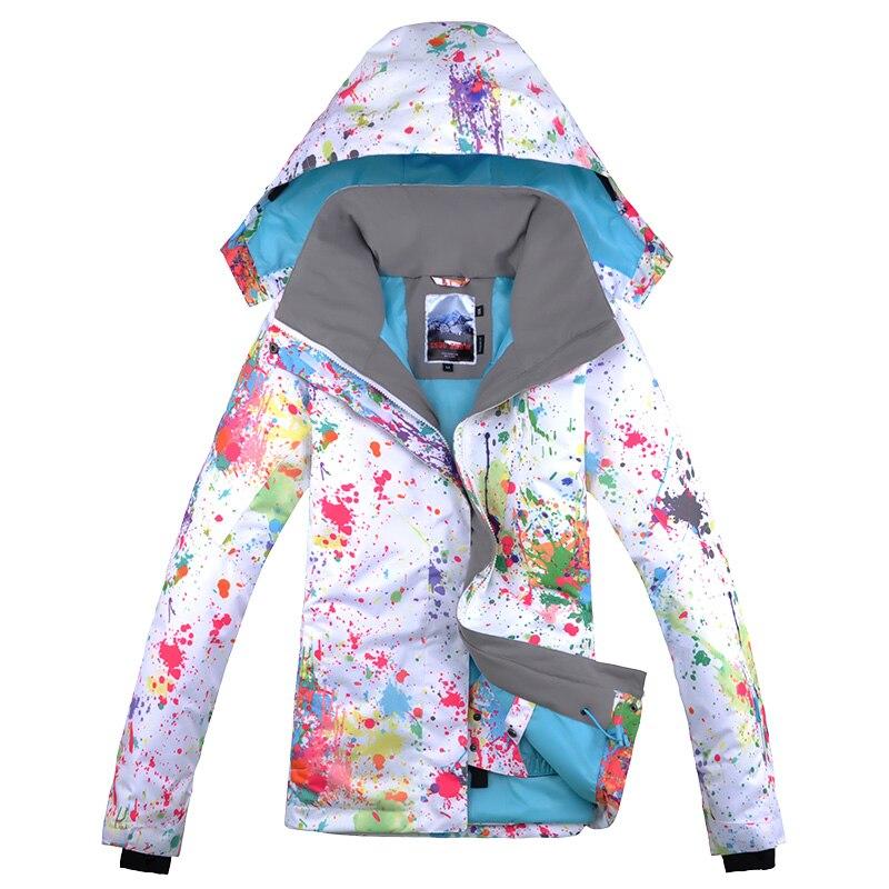 Gsou зимняя брендовая цветная лыжная куртка для сноуборда, женский лыжный костюм jas vrouwen chaqueta de snowboard de ski mujer - 3