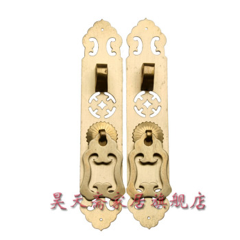 [Haotian vegetarian] antique copper straight handle / antique furniture copper fittings / HTC-039