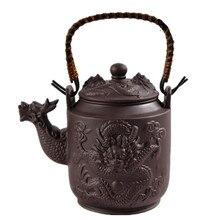 760 ML Chinesischen Lila Ton Drachen Teekanne Wasserkocher Zisha Kung Fu Teekanne Echte Große Kapazität Heißer Verkauf 16