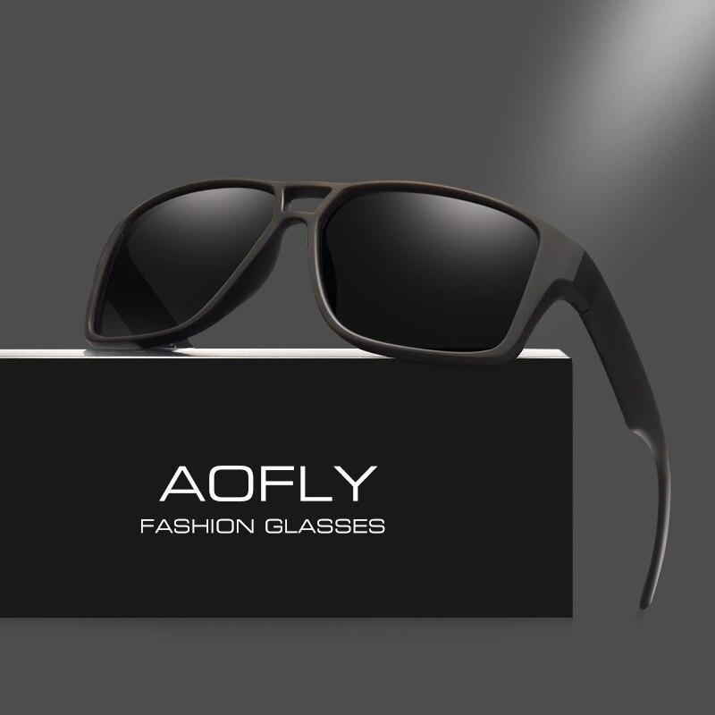 AOFLY поляризованные солнцезащитные очки мужские Прохладный Винтаж бренд Дизайн мужские солнцезащитные очки Polaroid линзы очки Оттенки Óculos ...