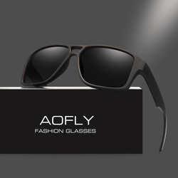AOFLY Polarized Sunglasses Mens Cool Vintage Brand Design Male Sunglasses Polaroid lenses Goggles Shades Oculos Masculino AF8030