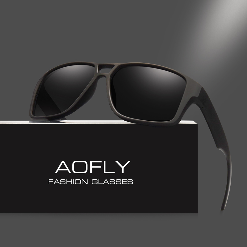 AOFLY Polarized Sunglasses Mens Vintage Male lenses Oculos