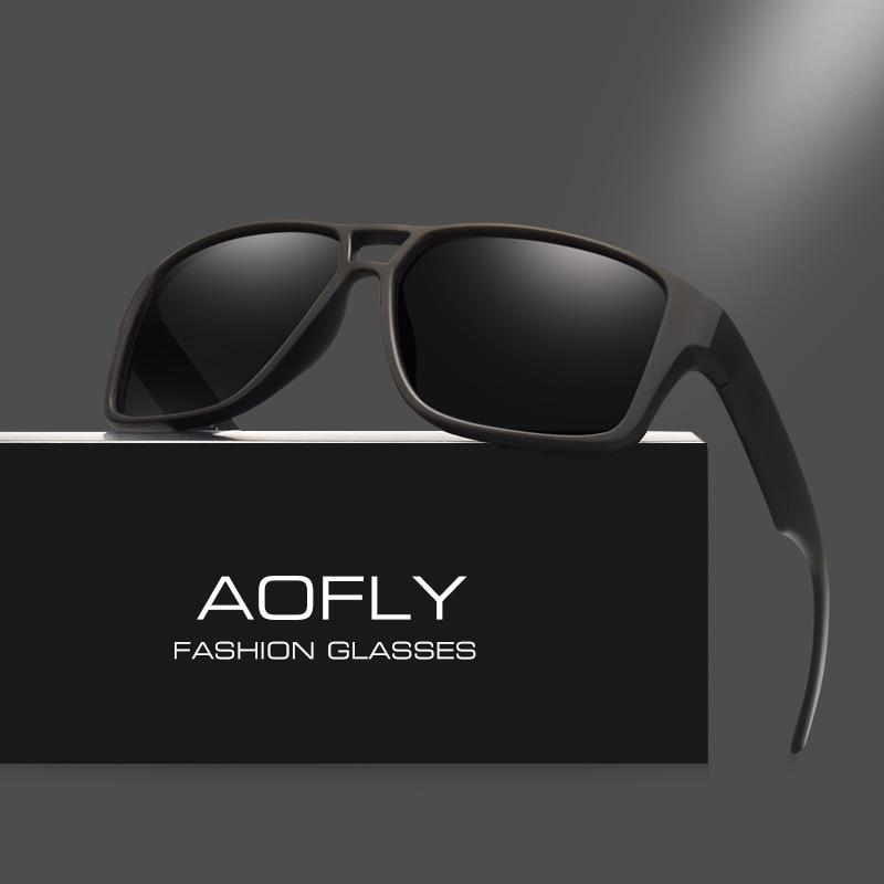 Aofly يستقطب نظارات شمسية رجالي كول خمر ماركة تصميم الذكور بولارويد العدسات نظارات ظلال oculos masculino AF8030