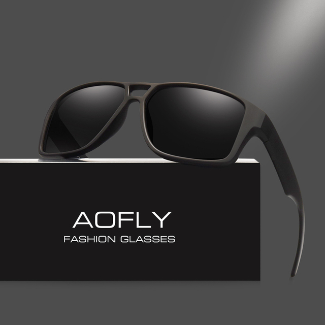 AOFLY Polarized Sunglasses Mens Cool Vintage Brand Design Male Sunglasses  Polaroid lenses Goggles Shades Oculos Masculino AF8030 d115c47542
