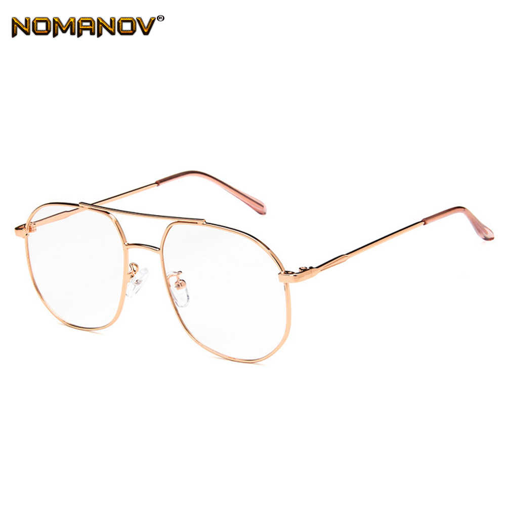 2019 Limited Office Lady Oversized Rose Gold Frame Classic Trend Spectacles With Optical Lenses Or Photochromic Gray / Brown