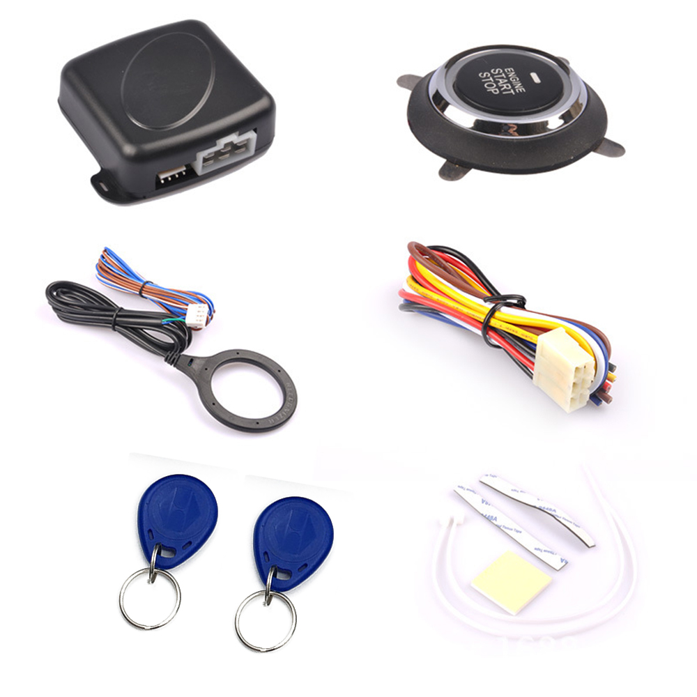 Auto Car Alarm Engine Start Push Button Start Stop RFID Lock Ignition Switch Keyless Entry System Starter Anti-theft CY932 usb
