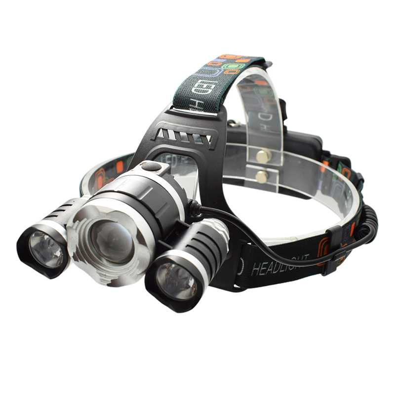 Powerful 3 LED T6 + 2* Q5 Headlamp Rechargeable Led Head Lamp Light 6000 Lumens Headlight Frontal Head Torch 4 Modes for Bicycle super bright led headlamp water resistant head torch built in 3x18650 rechargeable batteries 2 light modes headlight for outdoor