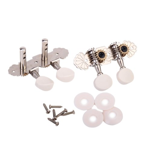 2pcs ofTuning Keys Pegs Machine Heads Tuner 1L + 1R+ 6 Screws+ 4 Washers For Ukulele and Classical Guitar