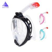 Safe and Waterproof Underwater Scuba Anti Fog Full Face Diving Mask Snorkeling Set Respiratory Masks Children / Adult Glasses