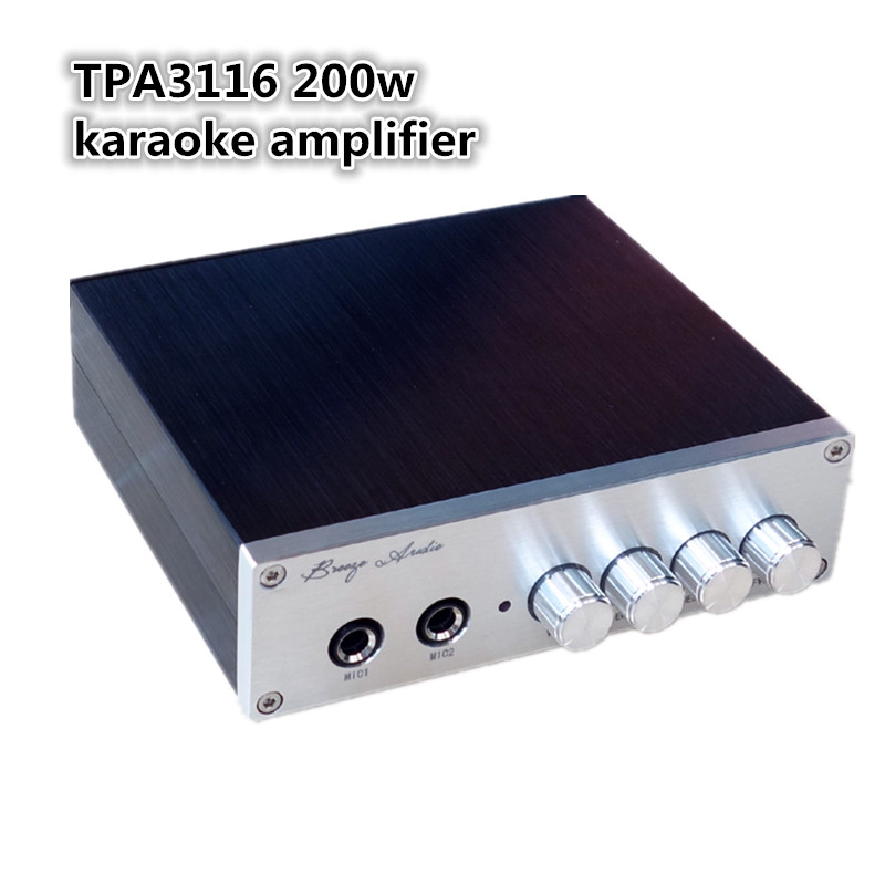 ФОТО TPA3116 High Quality Dynamic Microphone Mic Mike For KTV Karaoke PA Power Amplifier System With 5-Meter Cable Mike Preamplifier