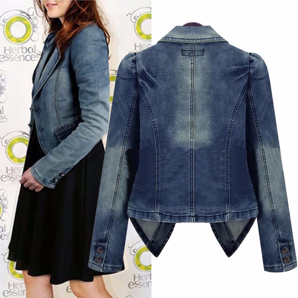 Women Denim Jacket Autumn Winter Vintage  Oversize Loose Female Jeans Coat Solid Slim Chaquetas Mujer Jaqueta Feminina 2016