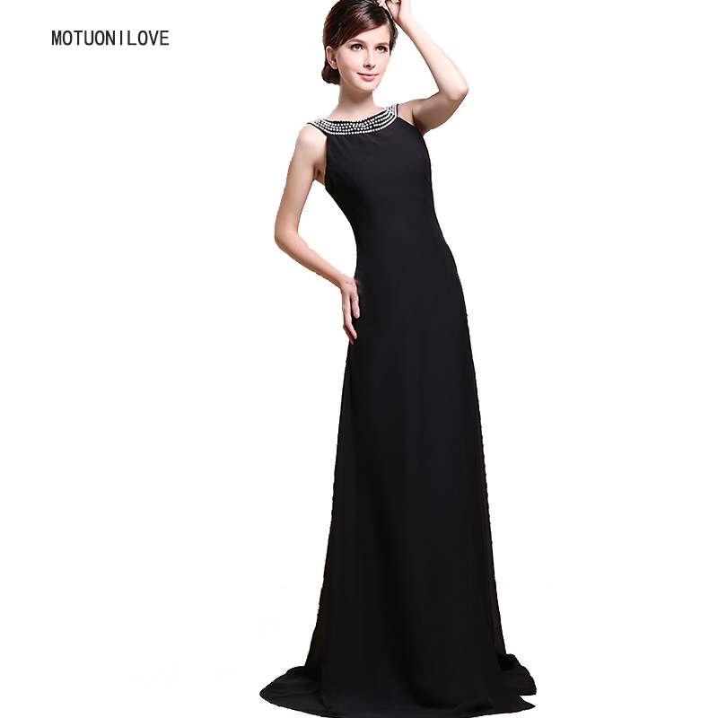 Elegant Halter Evening Dresses Pearls Black Slit Side Sexy Bridal Party Gown Islamic Dubai Saudi Arabic Long Evening Formal Gown