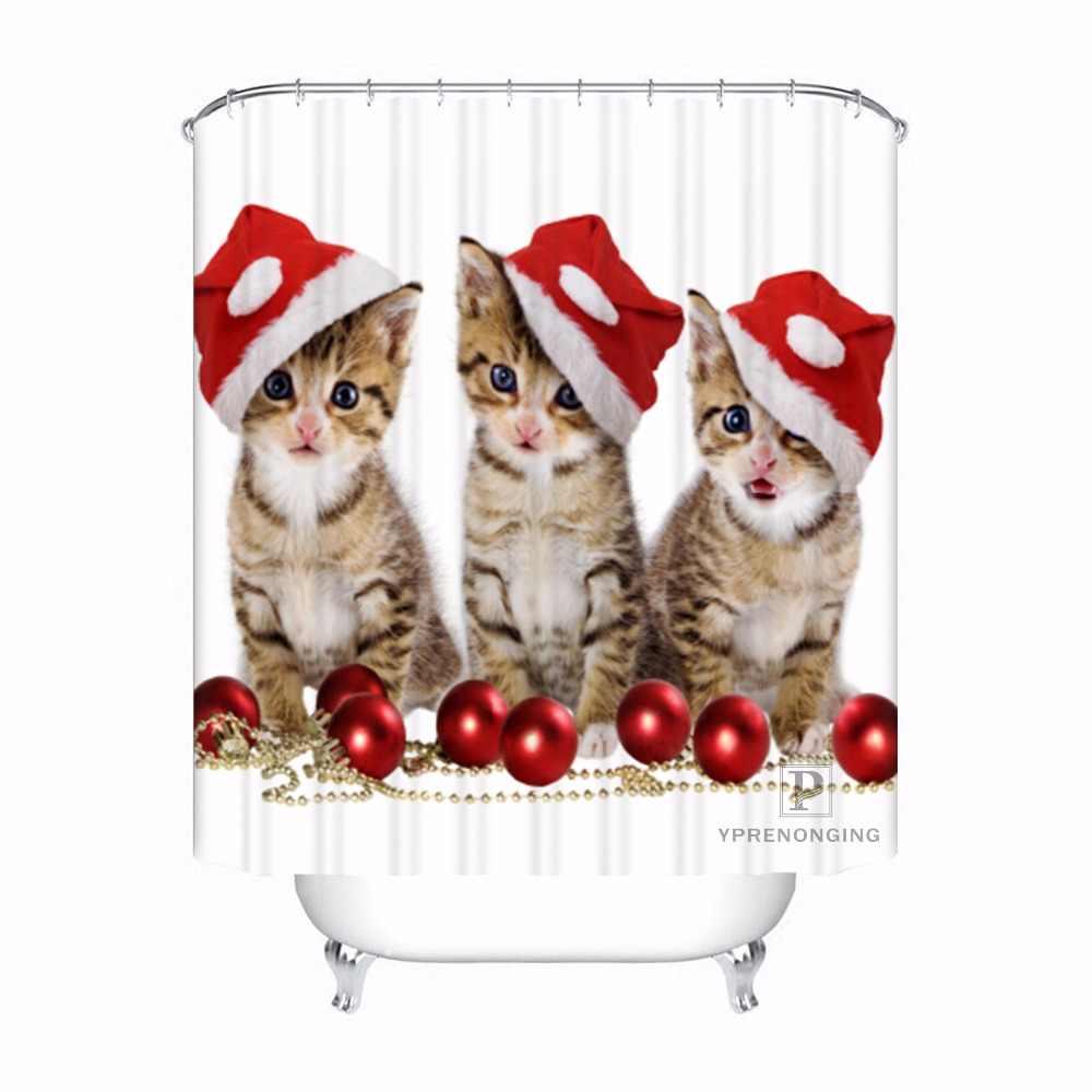 מותאם אישית חג המולד חיות כלב אמבטיה מקובל מקלחת וילון פוליאסטר אמבטיה בד #180318-37-14