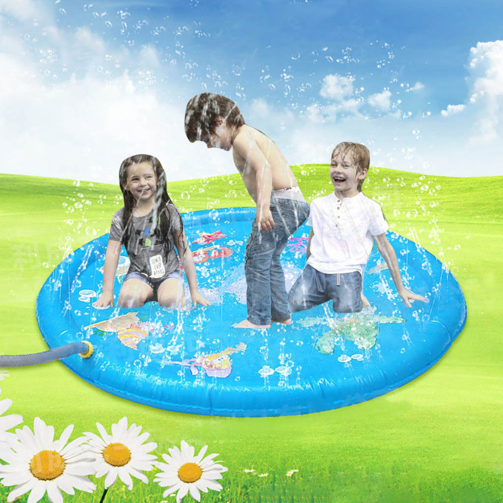 Kids Outdoor Summer Fun Game Party Toy Sprinkler Pad Play Mat Toddler Water Toys Toddler For Baby Fun Activity Play Center 5.27