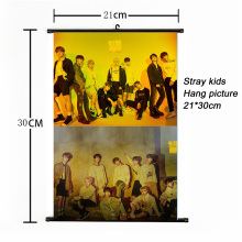 Fashion Kpop Stray Kids Hang paintng 21*30cm poster stray kids signature yellow wood album photocard fans collection