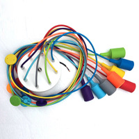 Silicone Colorful Pendant Lights DIY Multi Color E27 Bulb Holder Lamps Home Decoration Lighting 10 Arms