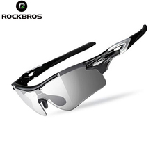 ROCKBROS Polarized Photochromic Cycling Glasses Men Outdoor Sports Fishing Running Sunglasses Goggles Eyewear 2 Lenses H6310