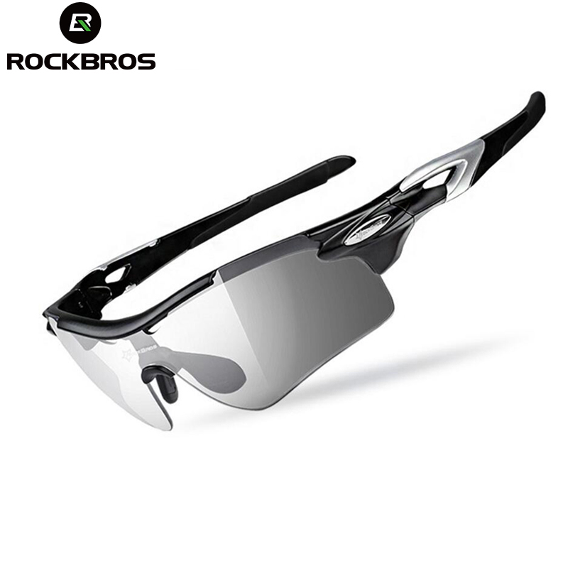 ROCKBROS Sports Sunglasses Polarized Cycling Glasses Photochromic Cycling Eyewear UV400  Men Women Fishing Running Eyewear