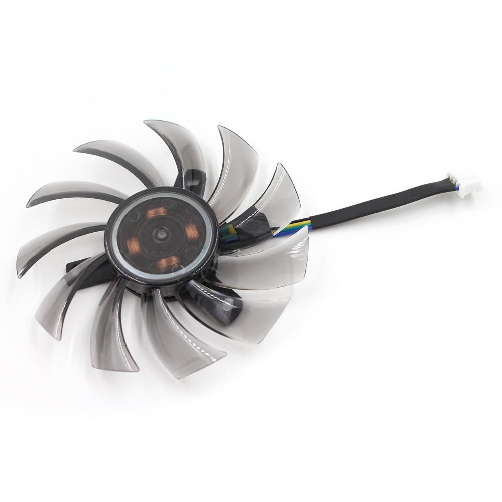 75mm GIGABYTE ATI NVIDIA Video Card Fan  40mm 4Pin T128010SU 0.35A