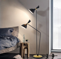 Nordic fashion simple double bedroom floor lamp post modern model room study lamp LED lighting fixture led lamps floor lamps