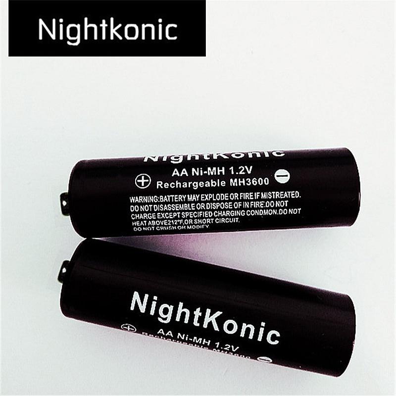 8 PÇS/LOTE NightKonic bateria aa 1.2 V NI-MH Bateria Recarregável AA PRETO
