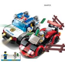 Polices car 264pcs Building Blocks Sets Enlighten Educational DIY Construction Bricks toys Compatible With Legoe city
