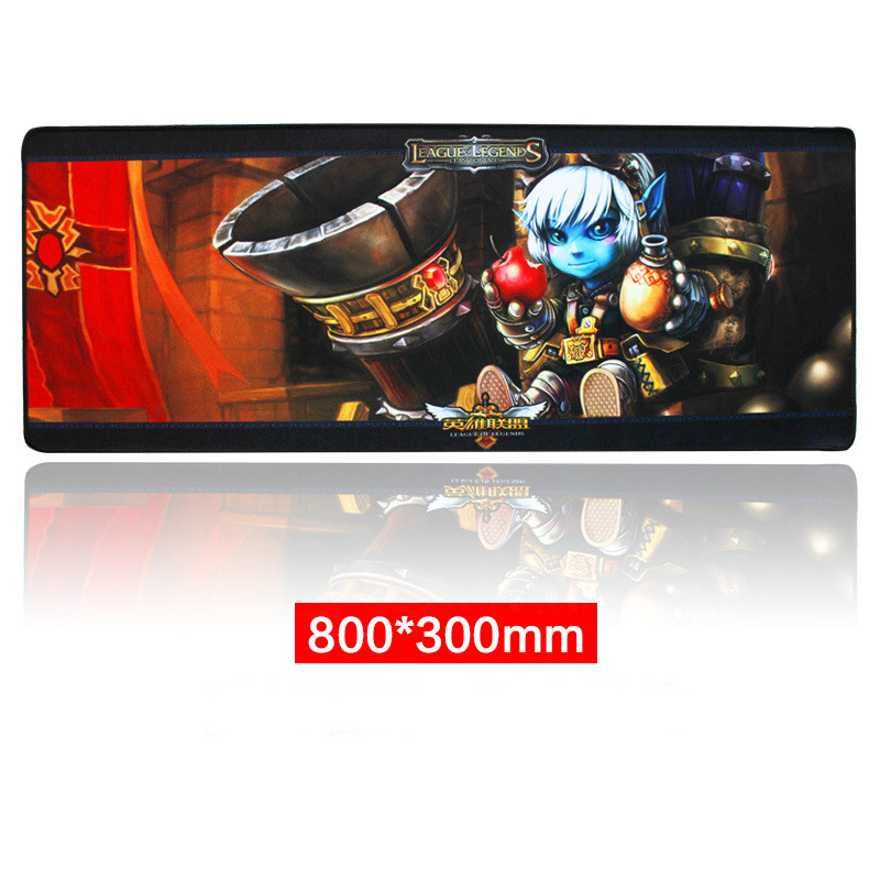 Rubber Large XL 8003003mm Gaming Mouse Pad Laptop Keyboard Mat Stitched Edges_4