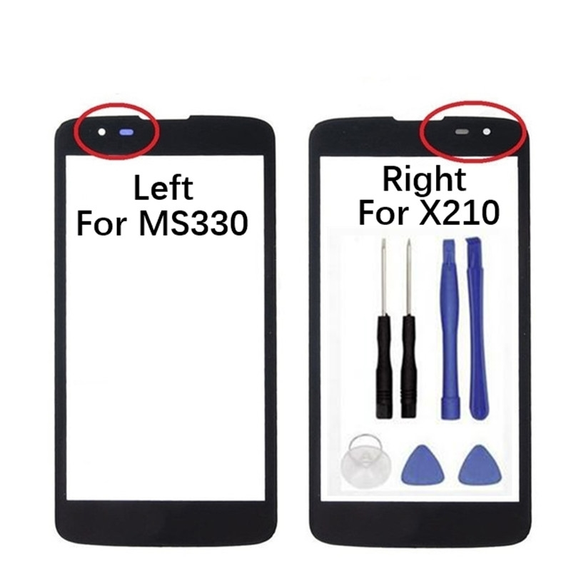 5.0 inches Touch Screen Lens For LG K7 X210 X210DS MS330 LS675 Mobile Phone Touch Panel Outer Glass LCD Display Front Screen