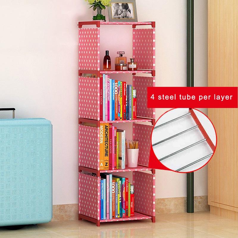 nonwovens plastics bookcase easy install book shelf wardrobe living ...