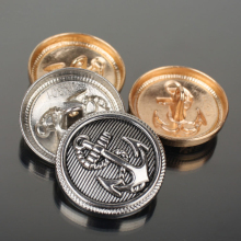 Metal Buttons for Clothing Coat Button Anchor Golden Retro Brass Suit Clothes Jeans 50 pcs/lot
