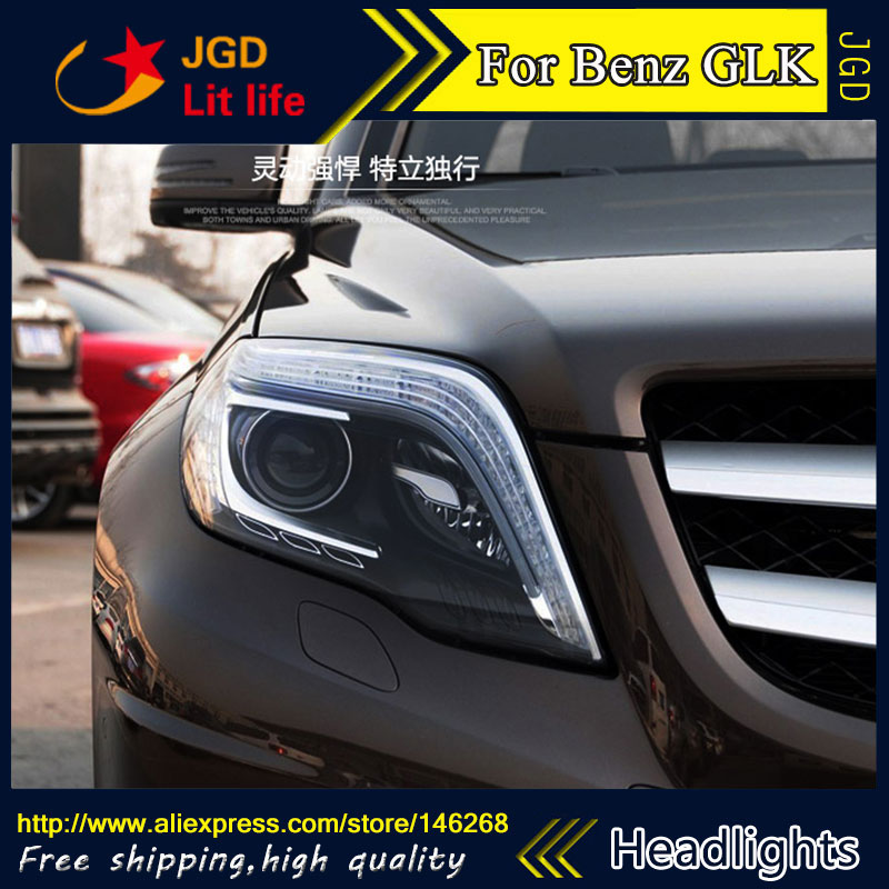 Free shipping ! Car styling LED HID Rio LED headlights Head Lamp case for Benz GLK200 GLK260 GLK300 Bi-Xenon Lens low beam auto clud style led head lamp for benz w163 ml320 ml280 ml350 ml430 led headlights signal led drl hid bi xenon lens low beam