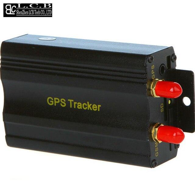 Автомобиль GPS Трекер TK 103А, Автосигнализация GPS 103 Четырехдиапазонный отрежьте топливо GPS системы слежения бесплатная доставка