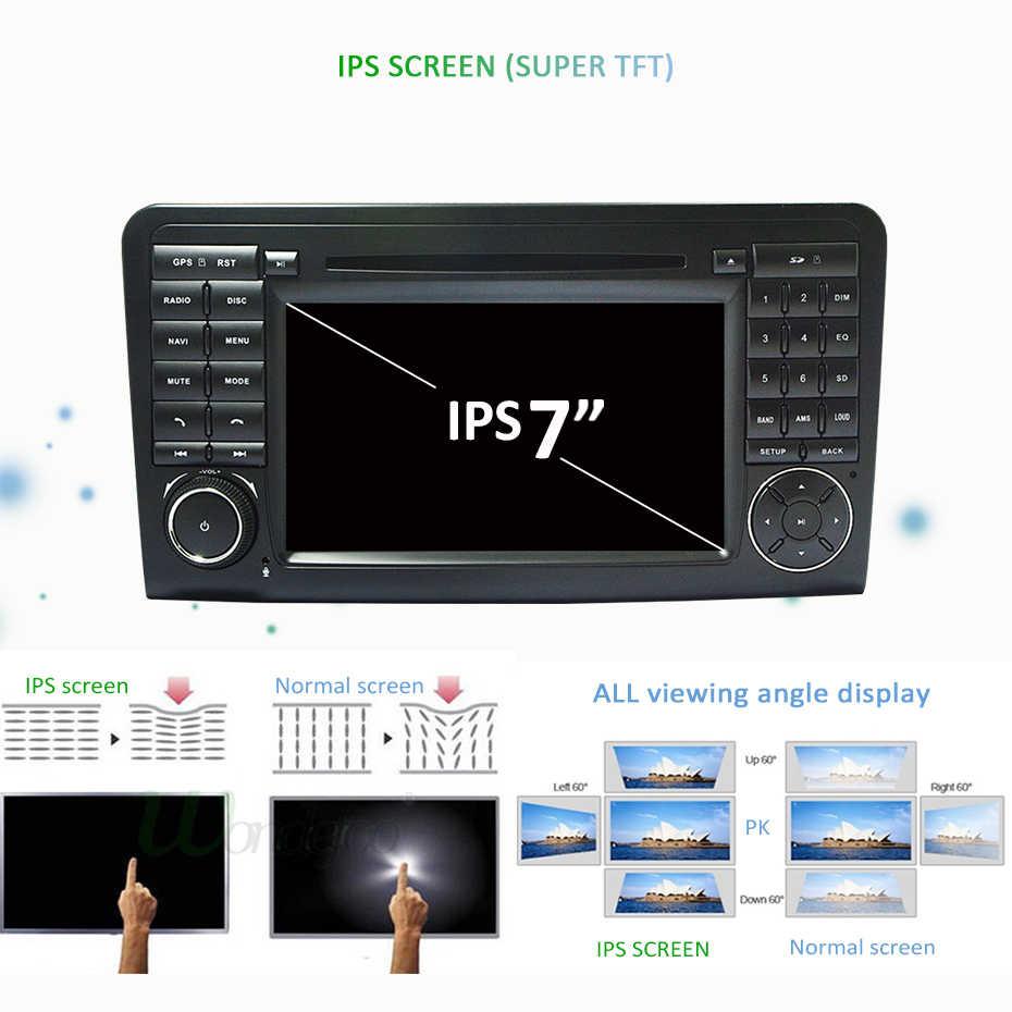 アンドロイド 9.0 DSP IPS 4 グラム 64 グラム 8 コア 2 DIN DVD メルセデスベンツ ML GL クラス W164 ML350 ML500 GL320 GPS ラジオナビゲーション画面