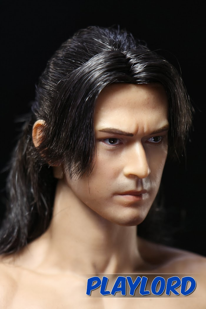 1//6 Takeshi Kaneshiro Head Sculpt Akechi Samanosuke Head Carved Warrior Head