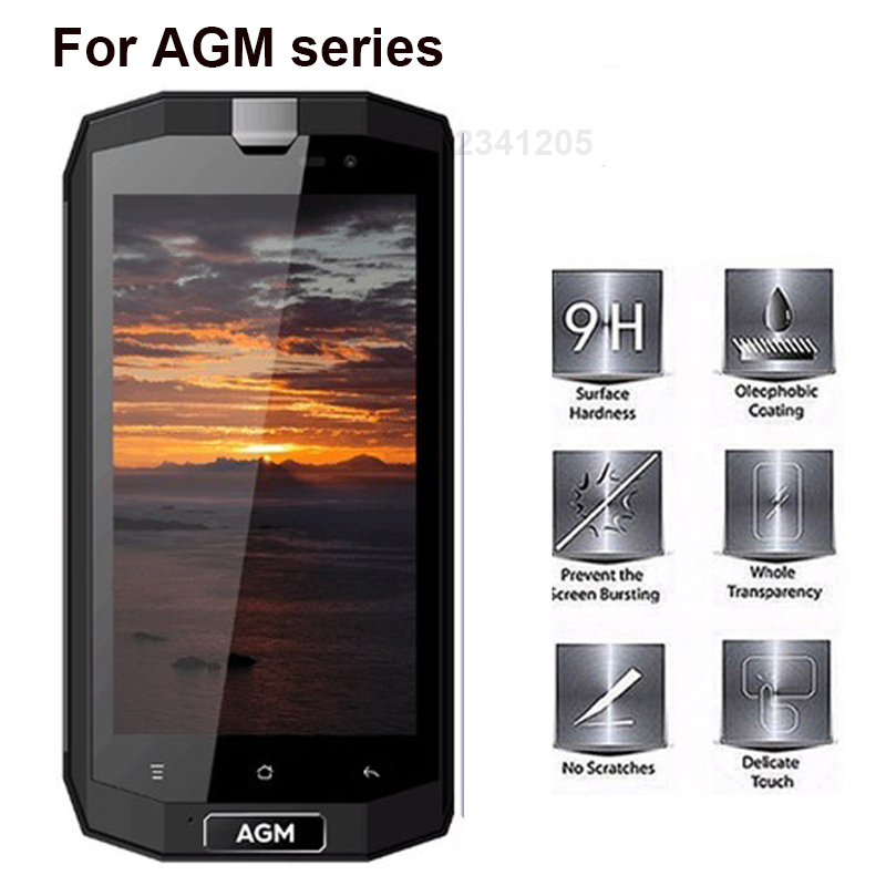 Tempered Glass For AGM A8 Screen Protector 9H Ultra Anti knock Protective For AGM X1 X2 X3 A1Q mobile phone Explosion-proof Film
