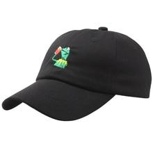 a66369fb2dc HEALMEYOU Kermit Tea Hat The Frog Sipping Drinking Baseball Dad Visor Cap  Emoji