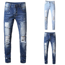 2019 Italian Style Fashion Skinny Stretch Casual Men Jeans New Designer Classical High Quality