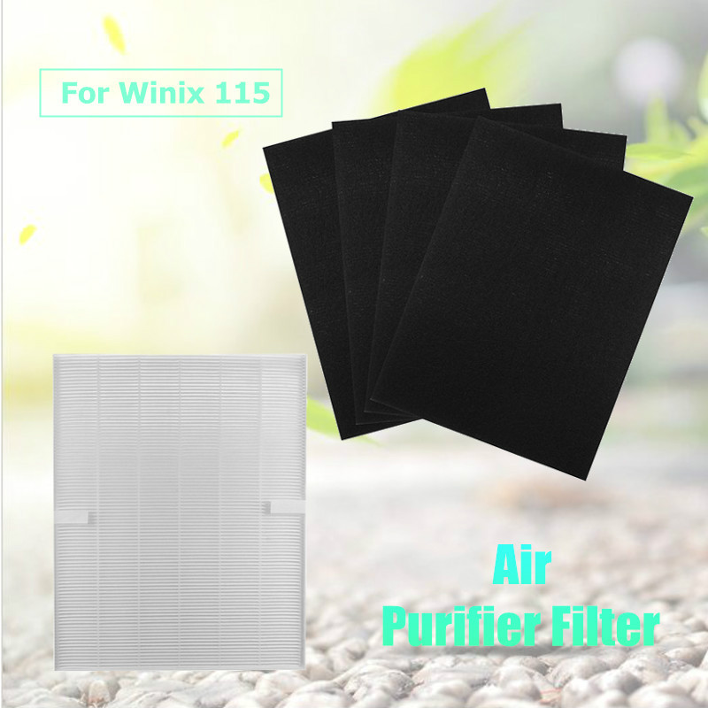 True Hepa Air cleaner Purifier + 4 Carbon Filters For Winix 115 Size 21 Plasma Wave Models 5300 5500 6300 WAC5300 WAC5500 цены онлайн