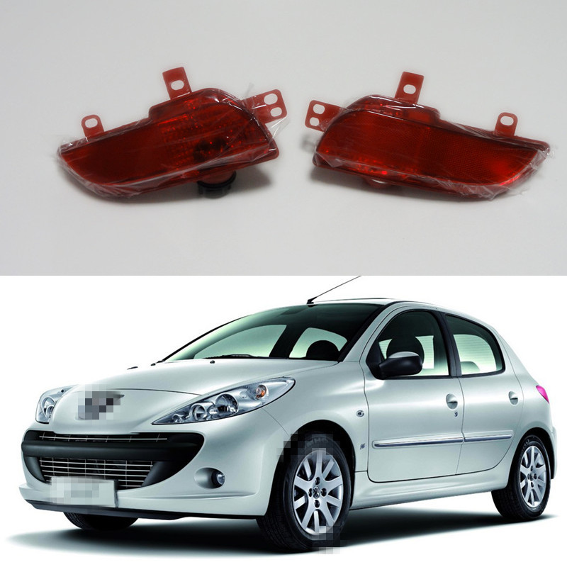 цена на 2 Pcs/Pair tail rear bumper fog lamps lights RH and LH for Peugeot 206+ plus 207