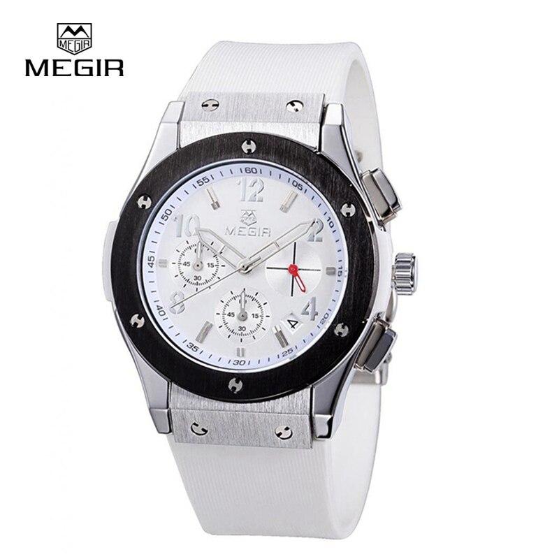 MEGIR Brand Women S Business Casual Quartz Watch Analog Silicone Strap WaterProof Brass Dial Clock Relogio