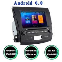 Octa Core Android 6 0 Car Gps Dvd Player For Mitsubishi Outlander 2007 2011 With Wifi