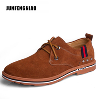 Hot 2016 Fashion Men Shoes Winter Warm Leather Flat Lace Up Ankle Boots For Man Rubber