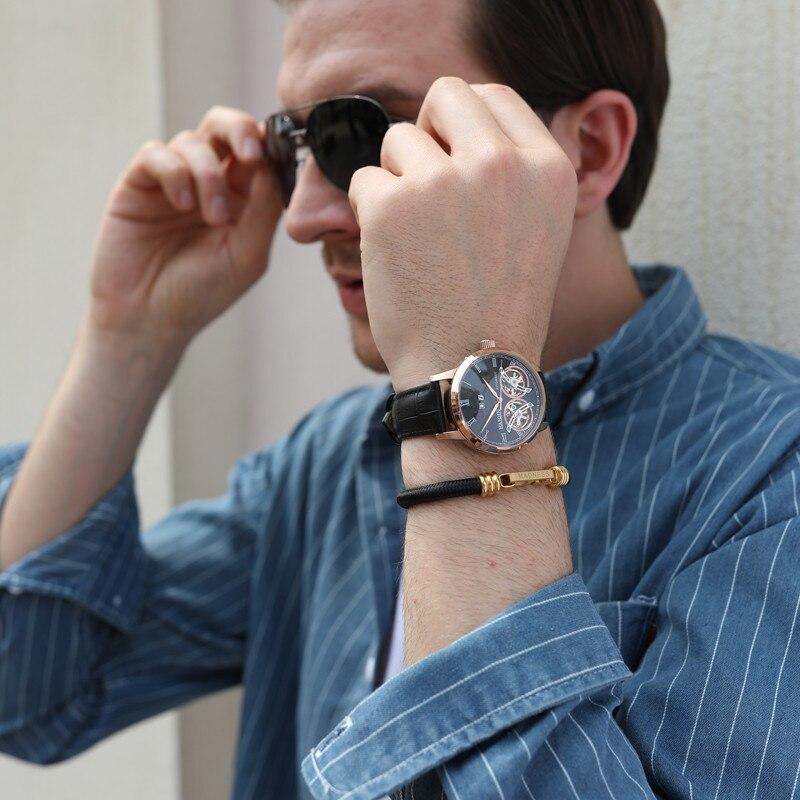 HAIQIN Herren Uhren Top Luxus Marke Automatische Maschinen Uhr Männer Doppel Tourbillon Mode Wasserdichte Uhr relogio masculino-in Mechanische Uhren aus Uhren bei  Gruppe 3
