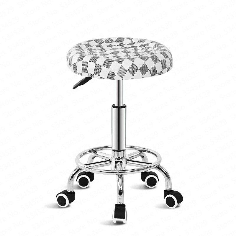 B Bar Chair Lift Beauty Chair Home Bar Bar Stool Nordic Wrought Iron Bar Chair European Minimalist Rotating Pulley Stool